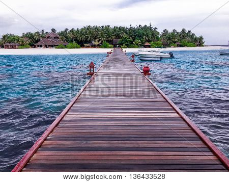 Resort Water Pathway to Maldives Island Beach resort