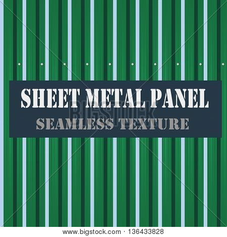 vector illustration seamless texture with green metal plate