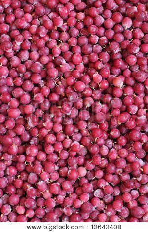 Frozen gooseberry background