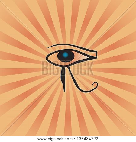 the eye of RA on the radiant background