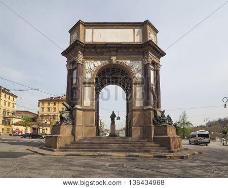 Arco Del Valentino Arch In Turin