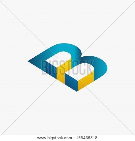 Abstract shapes of letters . Imitation 3D image . You can use as part of a logo or other use