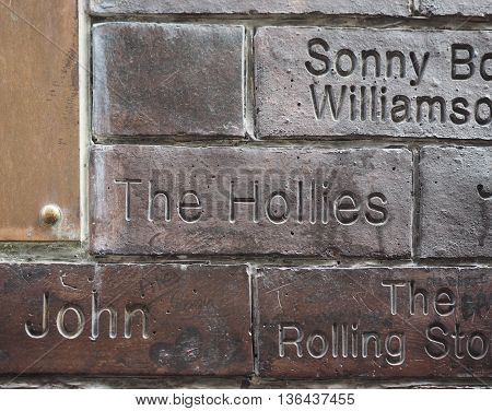 Wall Of Fame In Liverpool