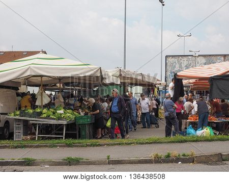 Fruits And Vegetables Marketplace In Settimo Torinese