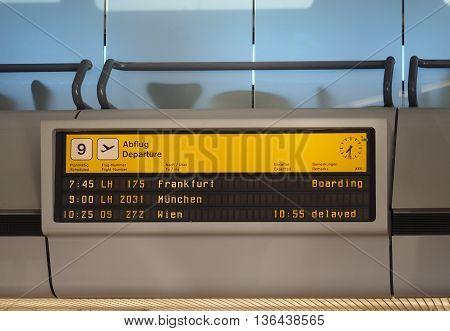 Departure Timetable In Berlin Tegel Airport