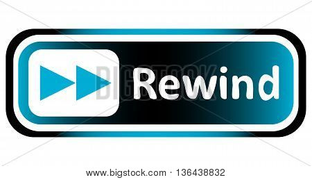 Long icon the button with a rewind forward symbol