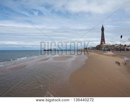 Pleasure Beach And Tower In Blackpool