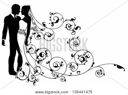 Bride And Groom Abstract