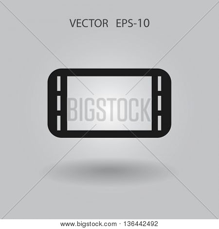 Flat icon of gamepad