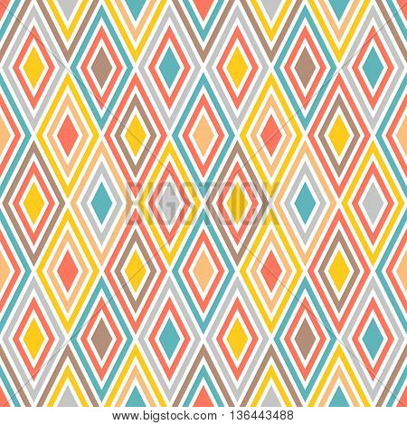 harlequin geometric seamless pattern background, colorful diamond pattern
