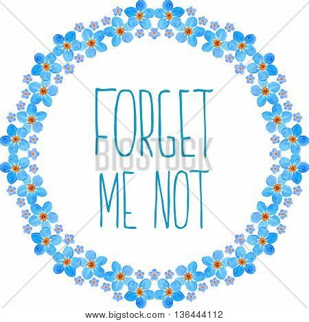 Forget-me-not Watercolor Flowers Frame
