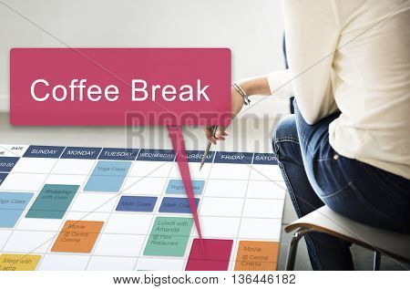 Coffee Break Beverage Cafe Drinking Enjoyment Concept