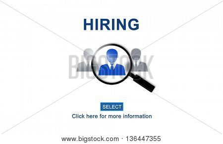 Hiring Occupation Recruitment Headhunting Jobs Concept