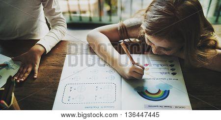 Drawing Friendship Ideas Imagination Creative Concept