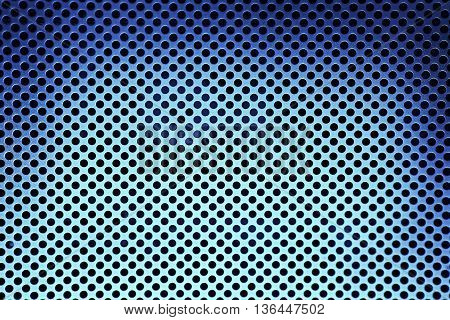 Dark Blue Metal Grate Background texture close up