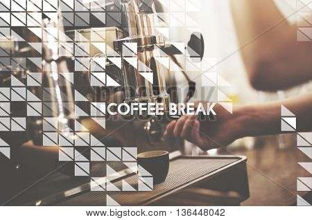 Coffee Break Relaxation Cafe Concept