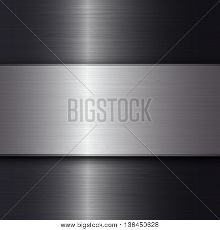Metal texture background, Abstract vector background with space for text