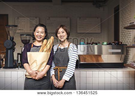 Baguette Bake Bread Homemade Wheat Waitress Concept