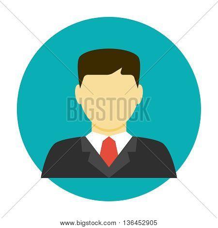 Lawyer avatar flat icon. Businessman avatar icon