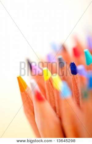 Color pencils isolated over a white background