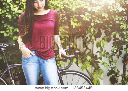 Bicycle Bike Cycle Exercise Sport Street Riding Concept