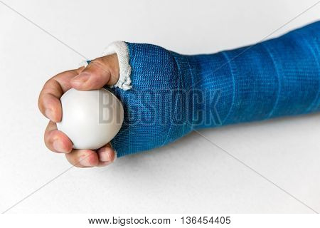Arm With Blue Cast