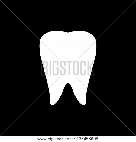 Tooth Icon on Black Background for Design