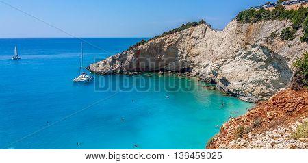 Porto Katsiki beach, Lefkas island, Lefkada, Greece