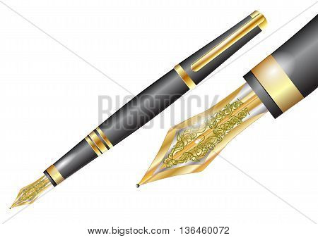 fountain pen isolated on a white background