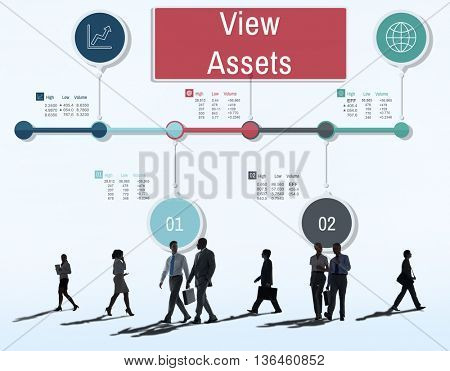 View Assets Property Estate Value Financial Concept