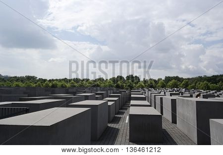 Berlin, Germany- 9 June 2016 : Holocaust Memorial, Berlin, Germany