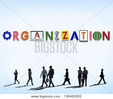 Organization Corporate Collaboration Business Team Concept