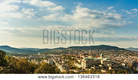 Buda Castle With Royal Palace In Budapest, Hungary