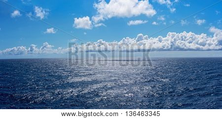 Sunlight on the deep blue North Atlantic in route to Bermuda.