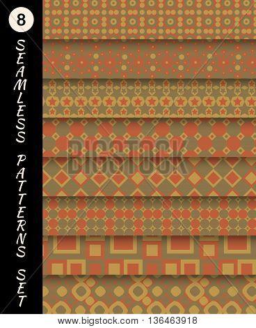 Seamless patterns set. Geometric textures. Abstract backgrounds. backdrop mobile smart phone tablet desktop wallpaper banner web design element scrap booking textile