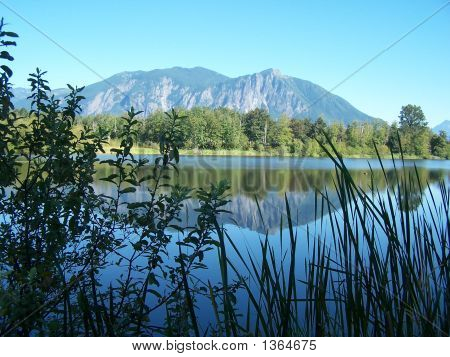 Mt Si And Mill Pond
