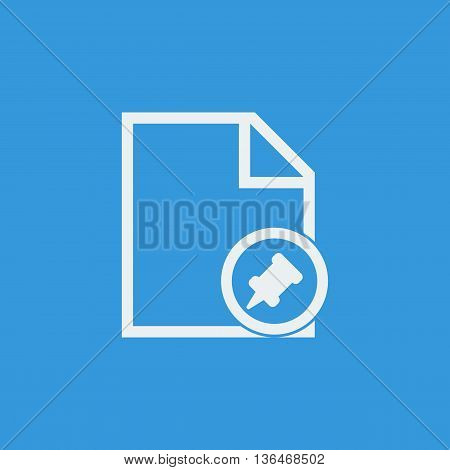 File Pin Icon In Vector Format. Premium Quality File Pin Symbol. Web Graphic File Pin Sign On Blue B