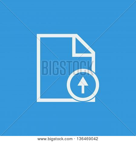 File Up Icon In Vector Format. Premium Quality File Up Symbol. Web Graphic File Up Sign On Blue Back