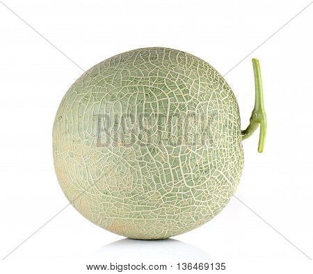 Big Melon isolated on a white background.