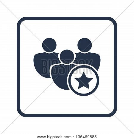 User Star Icon In Vector Format. Premium Quality User Star Symbol. Web Graphic User Star Sign On Blu