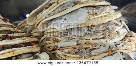 Italian Flatbread Typically Dish Prepared In The Romagna Region