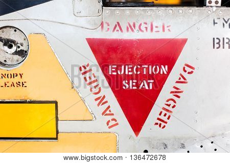 Close-up Of An Vintage War Airplane
