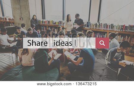 Share Ideas Creativity Design Imagination Inspiration Concept