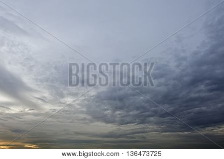 Sky background during evening sunset time with clouds