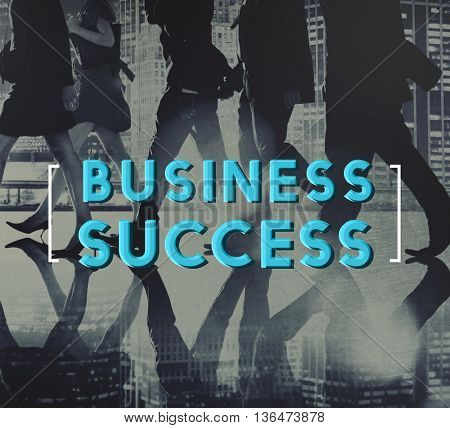 Business Success Achievement Growth Graphic Concept