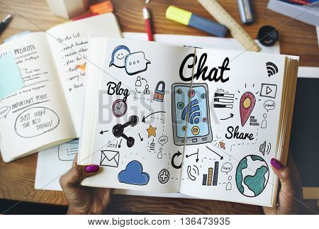 Chat Online Communication Technology Social Networking Concept