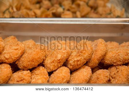 Fried Shrimp nuggets meal snack appetizeron dish