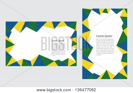 The Abstract color banner background .Illustration eps10