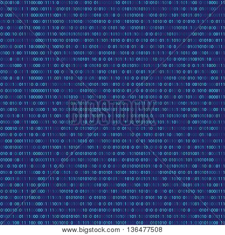 Binary Code Algorithm binary data code encryption and encoding row matrix vector illustration