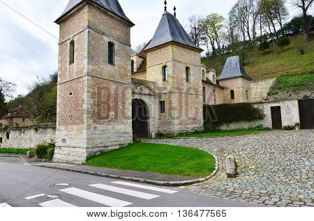 Medan France - april 4 2016 : the castle in spring